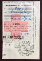 CRI - RICEVUTA PER UN VERSAMENTO SU BOLLETTINO CON CROCE ROSSA .- CESENA SUCC.1 - 1956 - Croce Rossa
