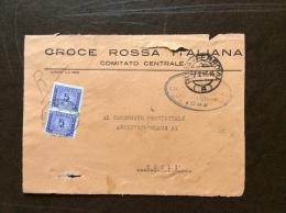 CRI -  COMITATO CENTRALE ROMA - FRONTE DI BUSTA TASSA A CARICO DESTINATARIO  -  L. 10 - 1948 - Croce Rossa