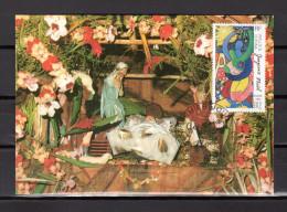 """Carte Maximum De 1993 """" NOEL  - MATA - UTU 06-12-93 """" N° YT 461. Parf état. CM - Maximum Cards"""