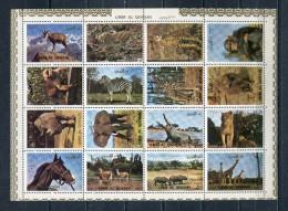 UMM AL QIWAIN 1972 Mi # 1002 A - 1017 A WILD ANIMALS ERROR PERFORATION MNH - Umm Al-Qiwain