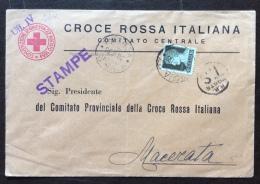 CRI -  COMITATO CENTRALE ROMA - BUSTA COMPLETA PER MACERATA - 1933 - Croce Rossa