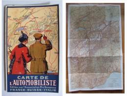 Carte De L'Automobiliste. Editée L'Association Pro Sempione FRANCE-SUISSE-ITALIE - Europa