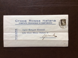 CRI -  COMITATO POVINCIALE DI CAMPOBASSO - LETTERA  COMPLETA - 1936 - XIV - Croce Rossa