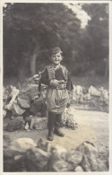 Montenegro - Boy In Traditional Montenegro Costume Old Postcard Budva 1932 - Montenegro