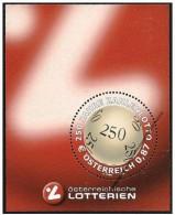 Austria/Autriche: Specimen, Miniature Sheet, Lotteria Nazionale, National Lottery, Loterie Nationale - Coins