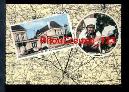 """86 Vienne - LENCLOITRE - """" Carte Multivues  - Hôtel De Ville Et Coiffe Du Poitou """" - Lencloitre"""