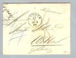 Niederlande 1864-05-12 Brief BOM Arnhem > Wohlen CH - Niederlande