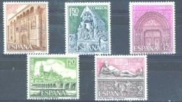 Spain 1968 Tourist Architecture Tourism Historical Places Art Sculpture Monuments Stamps MNH Scott# 1533-1537 - Unclassified