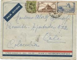 1938 FRANCIA, CORREO AÉREO - FRANCIA, VOLADO A COLOMBIA - Poste Aérienne
