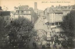 - Aveyron - Ref- A396 - Millau - Boulevard Glauzel De Coussergues - Petit Plan Marche - Marches - Carte Bon Etat - - Millau