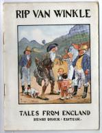 LIVRE EN ANGLAIS    RIP VAN WINKLE   1935      TALES FROM ENGLAND      EDITEUR HENRI DIDIER - Enfants