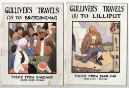 LIVRETS  ANGLAIS    GULLIVER S TRAVELS 1934         T 1 T2     TALES FROM ENGLAND    EDITEUR  HENRI DIDIER - Enfants