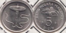 Malesia 5 Sen 1991 Km#50 - Used - Malesia