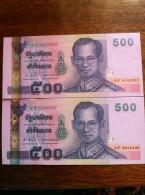 Thailand 500 Baht 2001 Pick107 Sign83 UNC - Thailand