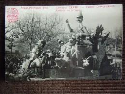 """Aix-en-Provence , Carnaval XLVIII ,  Corso Carnavalesque , 1948 , Char """" Mariage Au Village   """" - Aix En Provence"""