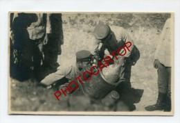 MORTIER-MINENWERFER-Canon-Obus-CARTE PHOTO Allemande-Guerre 14-18-1 WK-Militaria- - Guerre 1914-18
