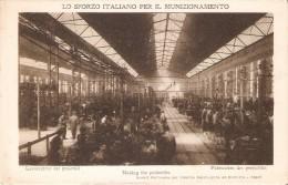 POSTAL DE NAPOLES LO SFORZO ITALIANO PER IL MUNIZIONAMIENTO - FABRICA DE PROYECTILES - Napoli