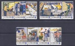 ETATS-UNIS D´AMERIQUE - Yvert - 982/91** - Cote 3 € - Honneur Aux 700.000 Employés Du Service Postal - Post