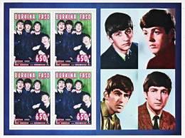 BURKINA FASO Les Beatles. Feuillet Collectf  Emis En 1995. ** MNH - Zangers