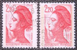1985 Liberté De Gandon N°2376 Type I & II - 1982-90 Liberté (Gandon)