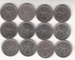 Norvegia 10 Øre Km#416 - 12 Coins Used - Norvegia