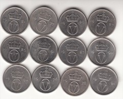 Norvegia 10 Øre Km#416 - 12 Coins Used - Norvège