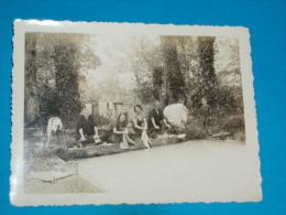 16 ) Chautillac - Le Lavoir - Laveuses -  Photo  12 X 9  - Année 1936 - EDIT - - Autres Communes