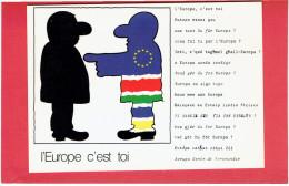 L EUROPE C EST TOI DESSIN DE ROBERT GEISSER CONSEIL DE L EUROPE CARTE EN TRES BON ETAT