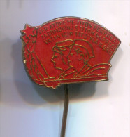 Yugoslavia  - Alliance PIONEERS, communism, vintage pin badge