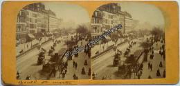 Stereoscopic Photo Stéréo XIX Boulevard Saint Martin 1870 PARIS 75 - Photos Stéréoscopiques