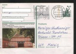 Ganzsachen  - Postkarte   Motiv: Scheeßel  - Echt Gelaufen - Cartes Postales - Oblitérées