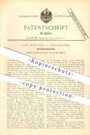 Original Patent - Carl Kneusel In Zeulenroda , 1895 , Blechabkantemaschine , Metall , Blech , Metallbearbeitung !!! - Historische Dokumente