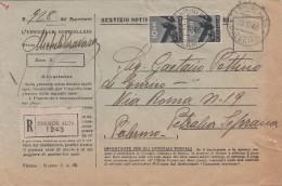TERMINI IMERESE 30.10.1946  /  PETRALIA SOPRANA - Cover _ Lettera - ATTI GIUDIZIARI - Democratica Lire 10 X 2 - 6. 1946-.. Repubblica