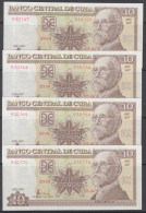 2007-BK-15 CUBA UNC 2007 10$. MAXIMO GOMEZ. 4 CONSECUTIVE. - Cuba