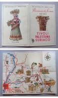"""Piantina """"PROVINCIA DE ROMA Zona Oeste. Tivoli-Palestrina-Subiaco. Ente Provinciale Per Il Turismo Di Roma"""" - Europa"""