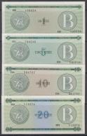 BK-SET-15 CUBA UNC 1985 1-20$. INTUR. SERIE B.