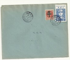 ENVELOPPE LIBERATION   GRIFFE  FFI   DU  25/08/1944  COTE  25  EUROS - Liberation