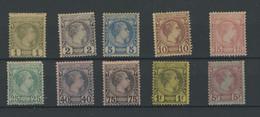 Prince Charles III De MONACO  1885, 1 / 10*, (2c Sg), Cote 9300 Euros  (cote Plus Aujourd'hui ?) - Neufs