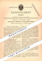 Original Patent - J. Creuzé De Latouche à Paris , 1886 , Appareil Cible Pour Canons De Marine !!! - Bateaux