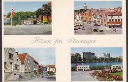 Norway PPC Hilsen Fra Stavanger AUNE Kunstforlag (2 Scans) - Norway