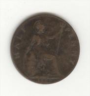 Half  Penny Grande Bretagne / U.K. 1900 Victoria - 1816-1901 : Frappes XIX° S.