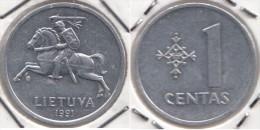 Lituania 1 Centas 1991 Km#85 - Used - Lituania