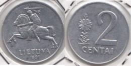 Lituania 2 Centai 1991 Km#86 - Used - Lituania
