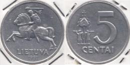 Lituania 5 Centai 1991 Km#87 - Used - Lituania