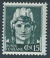 1929-42 REGNO IMPERIALE EFFIGIE 15 CENT MH * - T241-4 - Nuovi