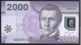 Chile 2000 Peso 2012 P162b UNC - Chili