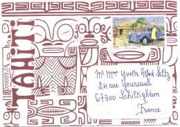Belle Enveloppe De Polynésie 2014 Timbre CITROEN - French Polynesia