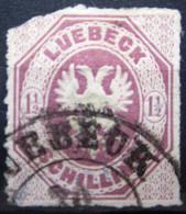 LUBECK                    N° 14               OBLITERE      2° CHOIX