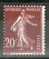 N° 139*_type IV_Sans Point_H=22.50 Entre Filets - 1906-38 Semeuse Con Cameo