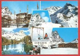 CARTOLINA VG ITALIA - CERVINIA (AO) - Panorama - Vedutine - 10 X 15 - ANNULLO 1969 - Andere Städte